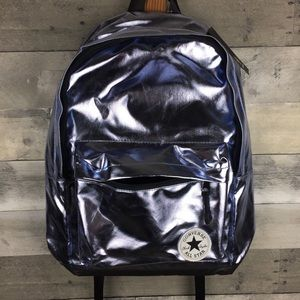 NWT Converse All Star Metallic Backpack Light Blue NWT
